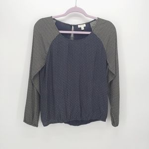 Soft Joie Reagan Mixed Geo Blouse